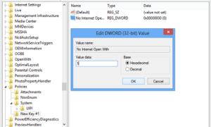 Desactivar Usar el servicio web para encontrar el programa correcto en Windows 7