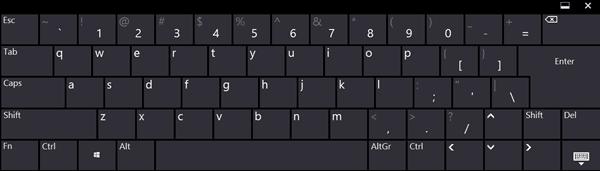 Cómo cambiar el tamaño del teclado táctil y en pantalla en Windows 10