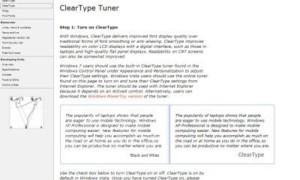 Facilitar la lectura del texto con ClearType Tuner en Windows 10/8/7