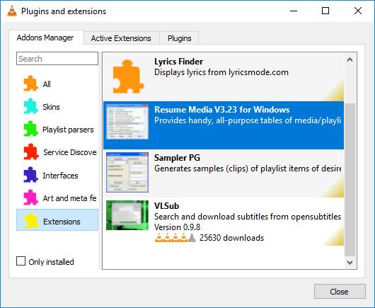 Cómo añadir plugins y extensiones en VLC Media Player 2