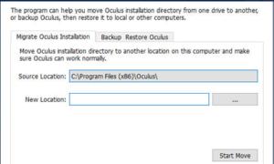Copia de seguridad, restauración, migración de juegos de Oculus Rift y otros archivos de directorio con vrBackupper
