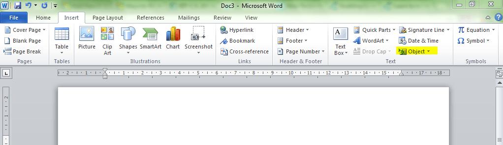 Cómo enlazar objetos PPT o PDF en un documento Word 1