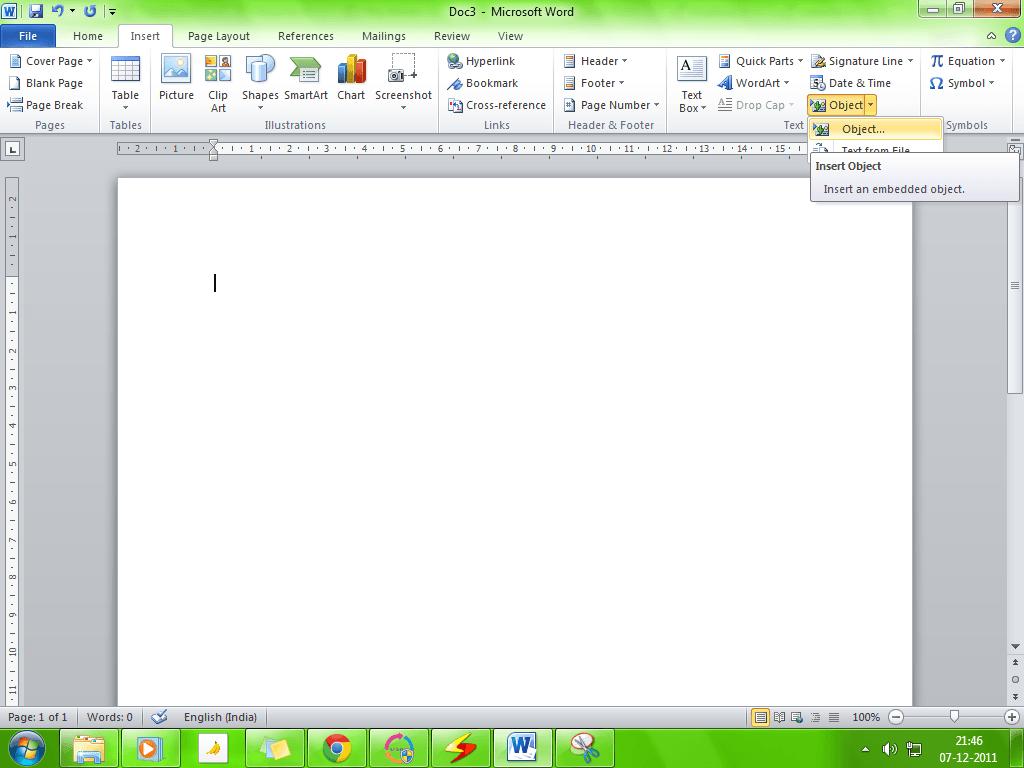 Cómo enlazar objetos PPT o PDF en un documento Word 2