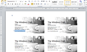 Cómo diseñar tarjetas de visita usando Microsoft Word