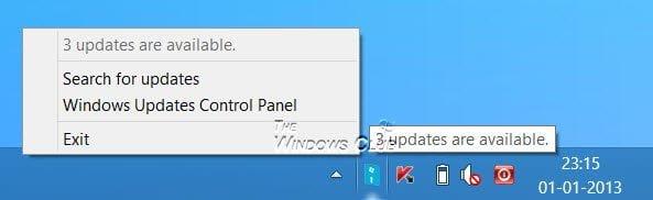 ¿Dónde están las notificaciones de Windows 8 Update?