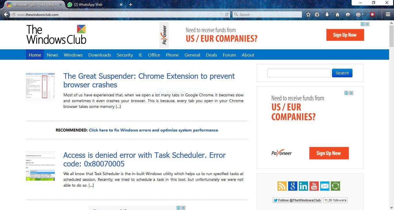 Waterfox tiene como objetivo la navegación web de alta velocidad en ordenadores con Windows de 64 bits