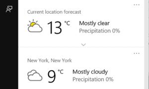 Hacer que Cortana muestre la información meteorológica de varias ubicaciones