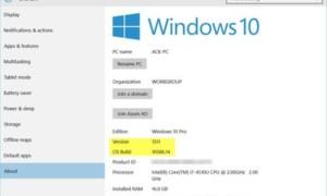 Descubra qué edición, versión y compilación de Windows 10 está instalada en su ordenador.