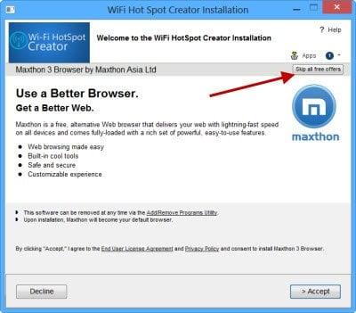 Creador de HotSpot WiFi: Convierta su PC o portátil Windows en un punto de acceso WiFi