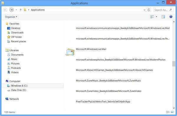 Dónde están instaladas las aplicaciones de Windows Store y cómo acceder a la carpeta