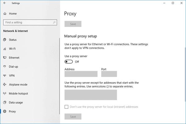 Cómo encontrar y restablecer la configuración del servidor proxy WinHTTP en Windows 10