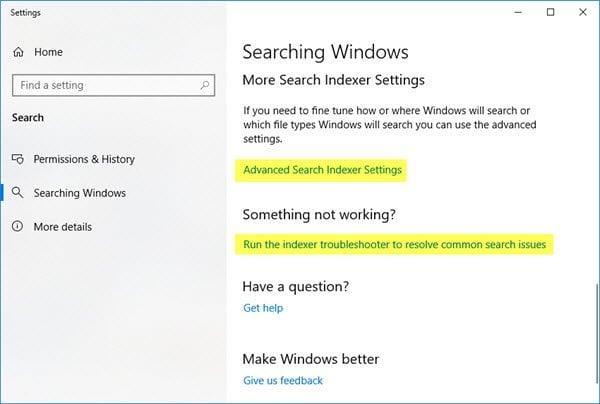 Cómo habilitar el modo mejorado en Windows 10 Search