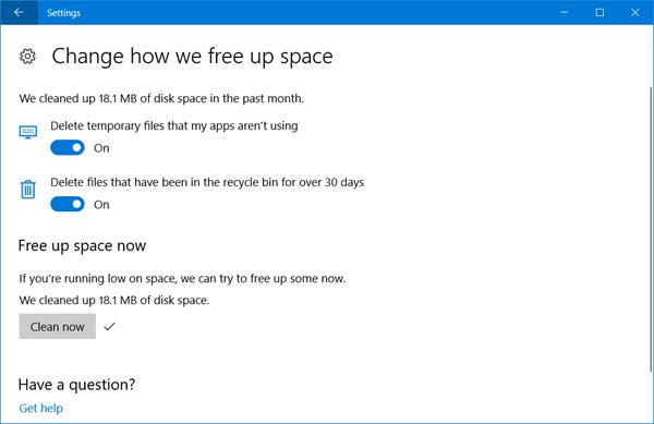 Configurar y usar Storage Sense para eliminar automáticamente archivos basura en Windows 10.