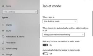 ¿Windows 10 está atascado en el modo Tablet? A continuación se explica cómo desactivar el modo Tablet PC