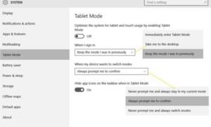 Cómo activar y usar el modo Tablet Mode en Windows 10
