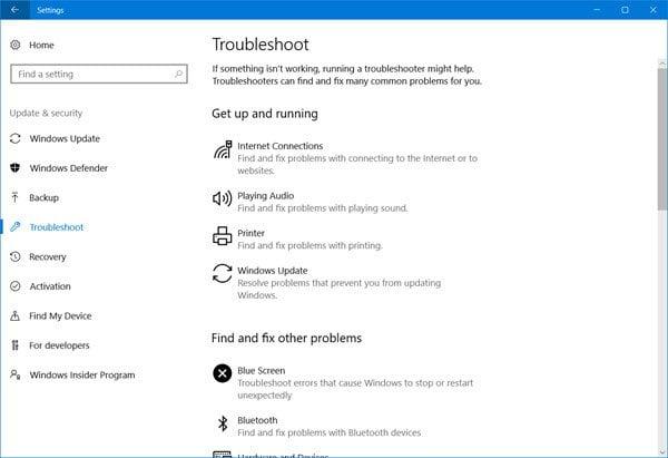 Cómo ejecutar el Solucionador de problemas en Windows 10 desde la línea de comandos 2