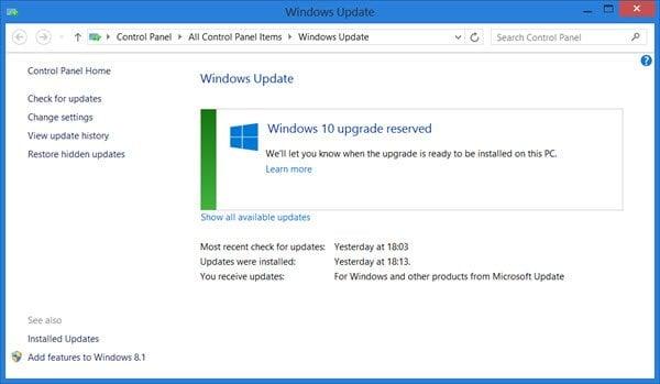 Cómo reservar su actualización gratuita a Windows 10 3