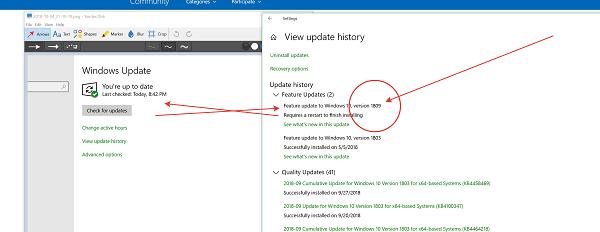 Windows 10 October 2018 Update v1809 - Problemas y problemas comunicados 2