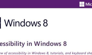 Descargar la Guía de accesibilidad de Windows 8 desde Microsoft