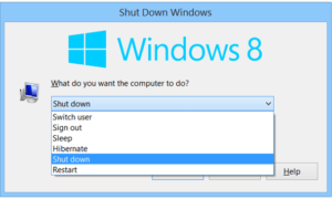 Atajos de teclado para apagar o bloquear el equipo con Windows