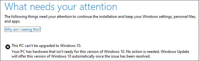 Este PC no se puede actualizar a Windows 10? Aquí está la solución!