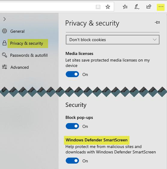 Cómo apagar o desactivar el Filtro SmartScreen en Windows 10 2