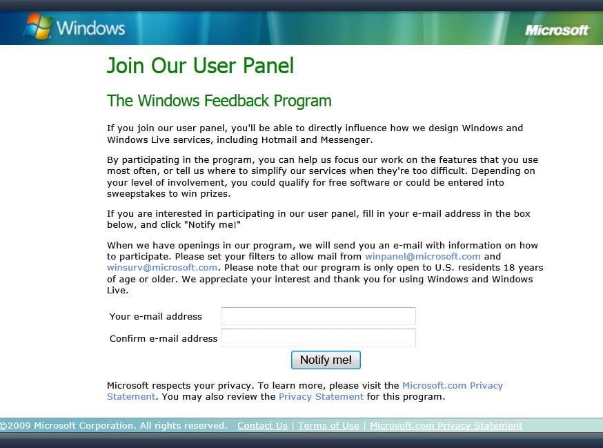 Microsoft anuncia un programa de comentarios sólo con invitación para Windows 8 - Ofrece regalos
