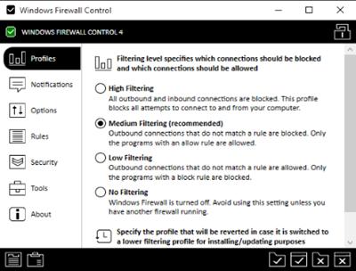 Control del Firewall de Windows: Configuración y administración de la configuración del Firewall de Windows
