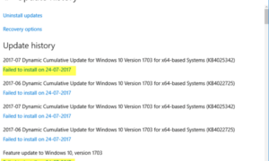 Error de Windows Update 0x800c0002 al actualizar Windows 10