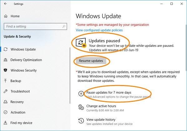 Cómo pausar, retrasar y diferir las actualizaciones de Windows hasta 365 días en Windows 10 2