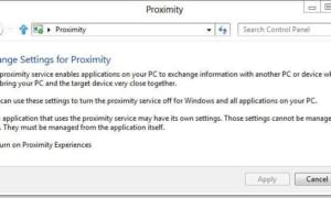 Cómo activar o desactivar la función de proximidad en Windows 8