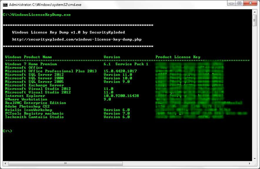 Recuperar claves de licencia usando el Descifrador de Llave de Producto y el Volcado de Llave de Licencia de Windows