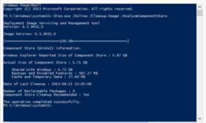 Analizar Windows Component Store o WinSxS en Windows 8.1
