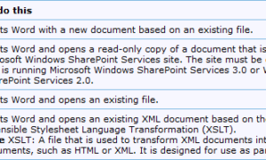 Lista de modificadores de inicio de la línea de comandos de Microsoft Word