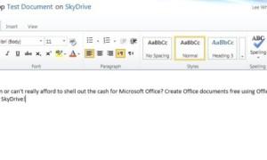¿No tienes Microsoft Office pero quieres usarlo gratis? Prueba Office Web Apps!