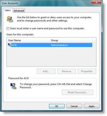 Desactivar la pantalla de inicio de sesión de Windows e iniciar sesión automáticamente en Windows 10