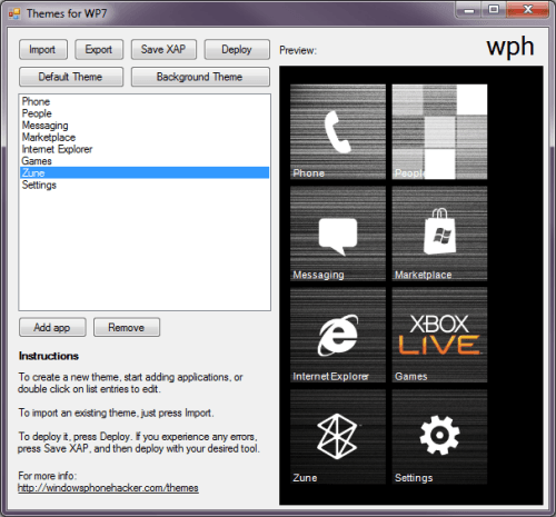 Descarga una herramienta gratuita para crear temas para Windows Phone