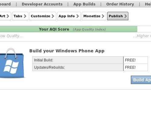 Cómo crear una aplicación para Windows Phone 7 usando Appmakr