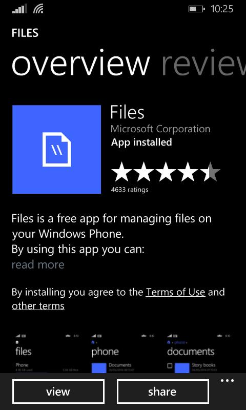 Mover aplicaciones entre la memoria del teléfono y la tarjeta SD en Windows Phone 8.1