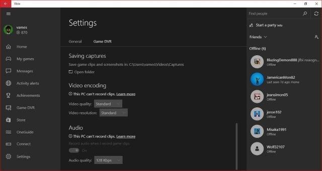 La aplicación Xbox Live para Windows 10 es pura maravilla