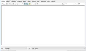 yWriter: Software de Escritura de Guión que organiza su trabajo en Capítulos y Escenas