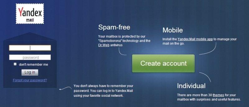 Yandex Mail Review: Servicio de correo electrónico gratuito con numerosas funciones 1