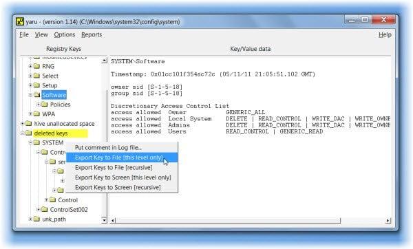 Cómo recuperar claves del registro eliminadas en Windows 7/8/10