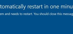 Su PC se reiniciará automáticamente en un mensaje de un minuto en Windows 10.