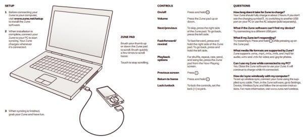 Descargue los manuales de Zune Player, Zune HD Player, productos y accesorios