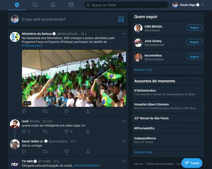 Twitter prueba una nueva interfaz web con elementos guardados, modo nocturno y ahorro de datos 1