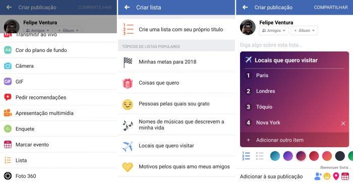 Facebook obtiene listas para que publiques más contenido personal 2