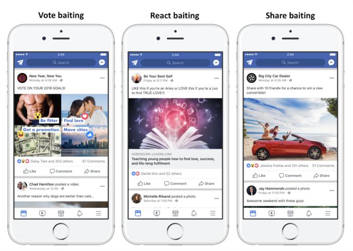 Facebook luchará contra las publicaciones que le pidan que le guste, vote o etiquete amigos 2