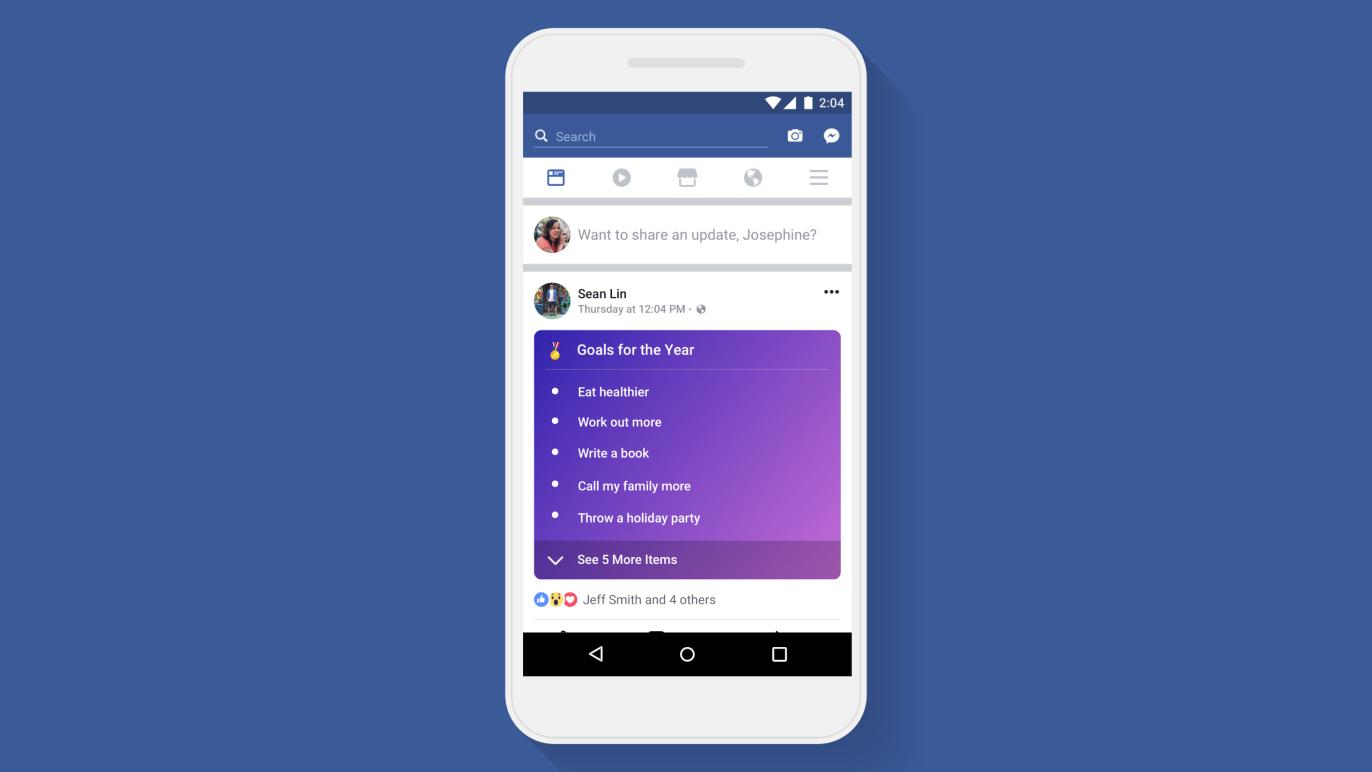 Facebook obtiene listas para que publiques más contenido personal 1