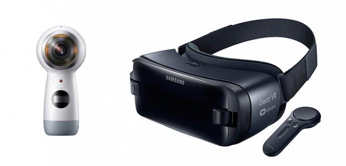 Samsung Gear VR obtiene el control de la realidad virtual y Gear 360 Records 4K Video